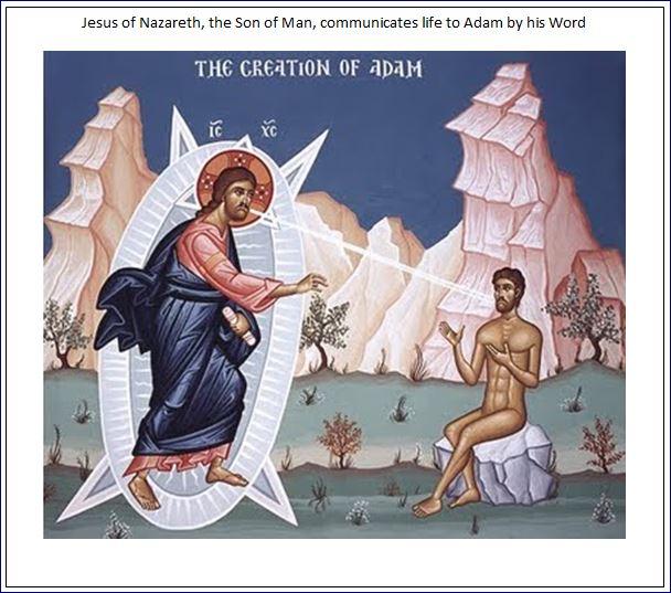Jesus creates Adam
