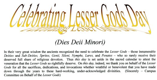 Lesser Gods Day 01 Obverse