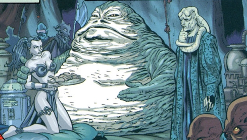 Jabba Fed by Leia