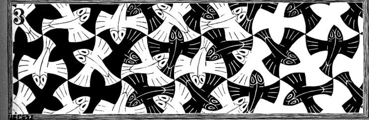 Escher Black and White Birds