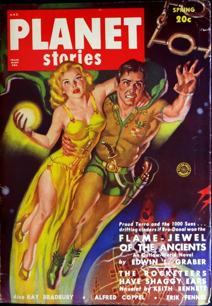 Planet Stories Vol. 4, No. 6 (Spring 1950).  Cover by Allen Anderson