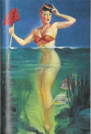 Burlesque 05 Elvgren Watery Girl
