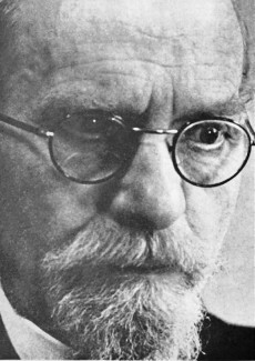Husserl Looking to Right