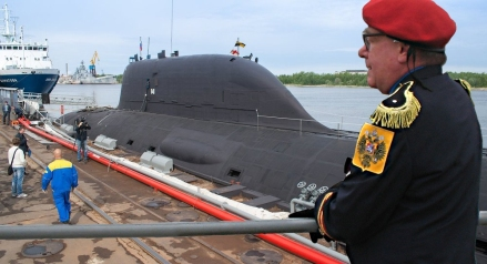 XYZ Submarine Zhinovi Rozhdestvensky at Dock with Adm. Feliksov