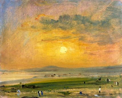 Constable 01 Shoreham Bay, Evening Sunset (1828)