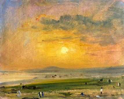 Constable 01 Shoreham Bay, Evening Sunset (1828)