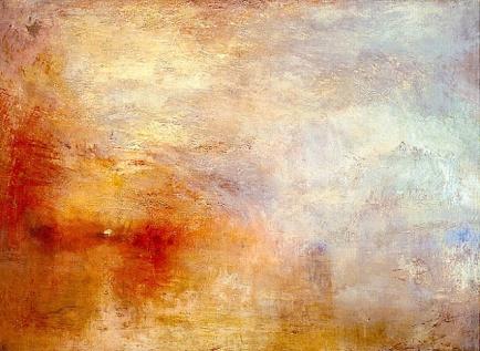 Turner 02 Sun Setting over a Lake (1840)