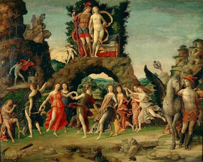 Gods 01 Muses by Andreas Mantegna (1496)
