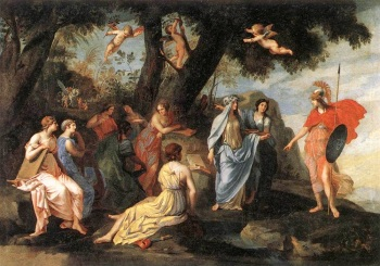 Gods 02 Minerva & the Muses by Jacques Stella