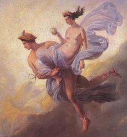 Gods 13 Mercury Carrying Pandora by Jean Alaux