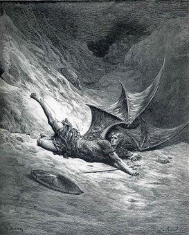 satan cast down by dore