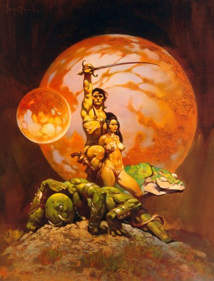 Frazetta Carter and Dejah Thoris
