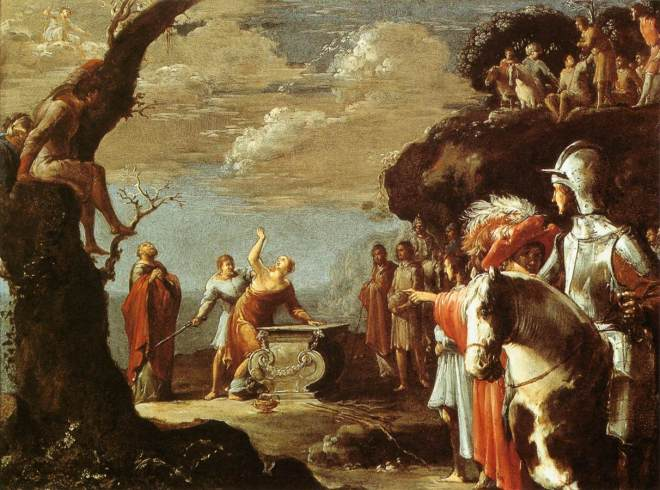 Bramer Leonaert (1596 - 1670) - Sacrifice of Iphigenia c. 1623