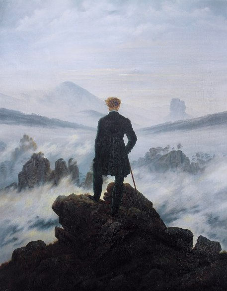 Caspar David Friedrich Wanderer above the sea of fog (1818)