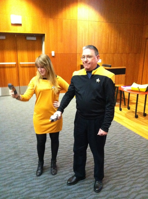 Doc & Rachel in Star Fleet Attire