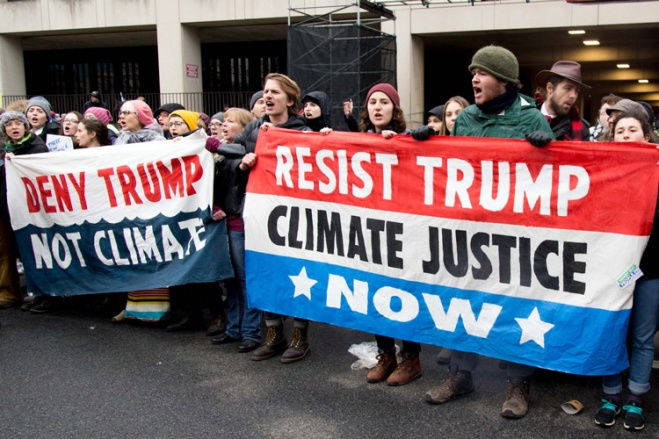 Resist Trump Climate Justice Now