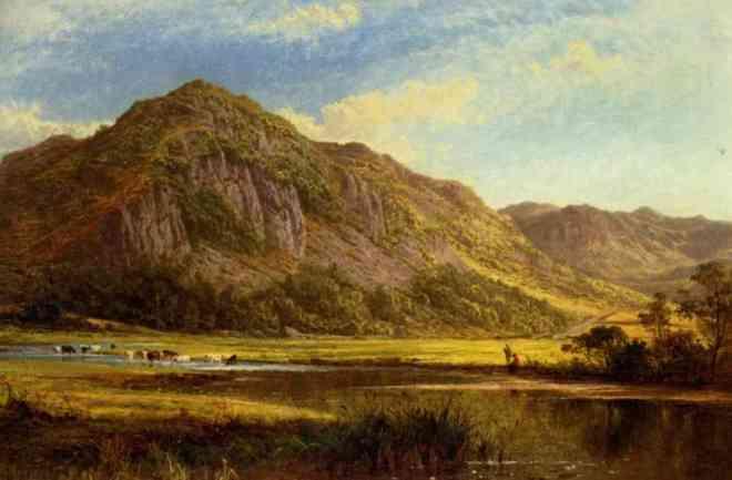 Benjamin Williams Leader (1831 - 1923) Derwent Water Cumberland (1869)