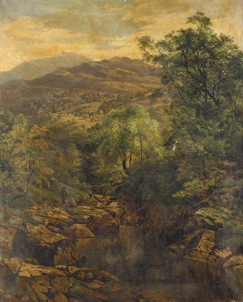 Benjamin Williams Leader A Quiet Pool in Glenfalloch (1857)