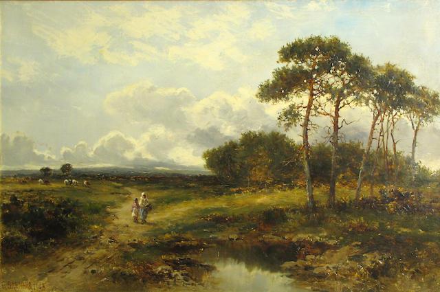 Carl Brennir (1850 - 1920) Pastoral Landscape (1903)