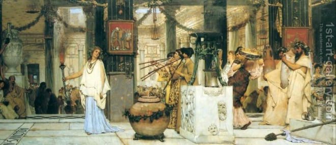 Alma-Tadema, Lawrence (1836 - 1912) Vintage Festival (1871)