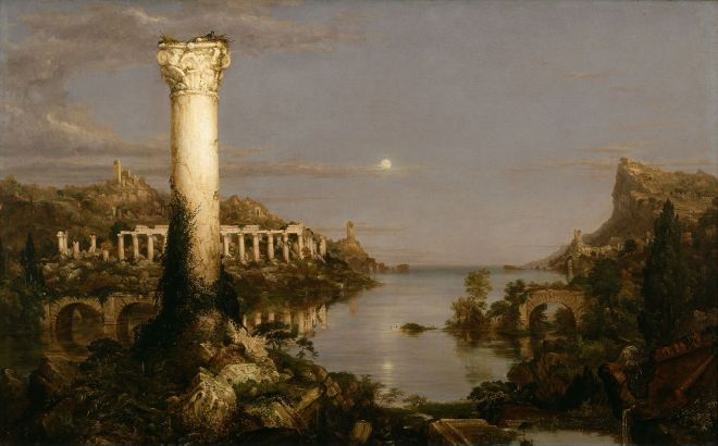Cole, Thomas (1801 - 1848) Course of Empire - Desolation (1836)