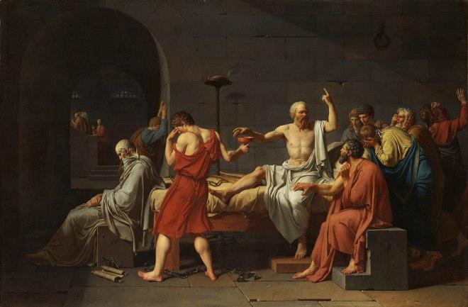 Jacques-Louis David (1748 - 1825) - Death of Socrates (1787)