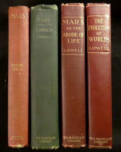 Mars Books by Lowell