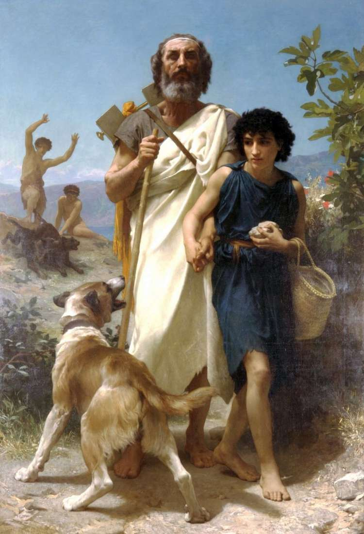 William Adolphe Bouguereau (1825 - 1905) Homer & His Guide (1874)