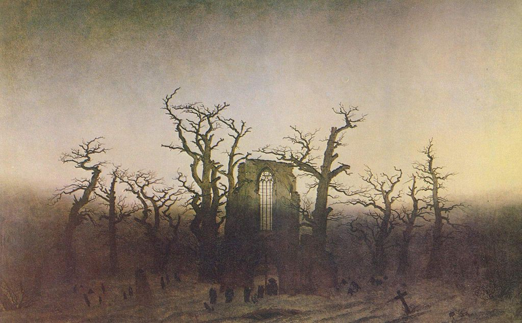 Caspar David Friedrich (1774 - 1840) - Abbey-in-the-Oakwood (1810)