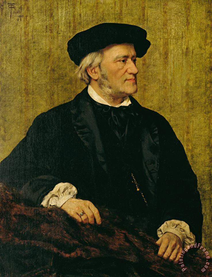 Giuseppi Tvoli (1854 1925) - Richard Wagner (ca. 1865)