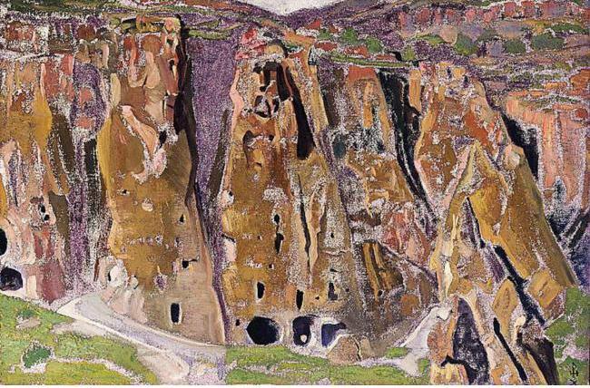 Nicholas Roerich (1874 - 1947) - Cliff Dwellings (1921)