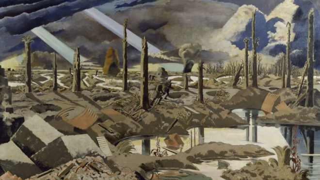 Paul Nash (1889 - 1946) - On Menin Road (1919)