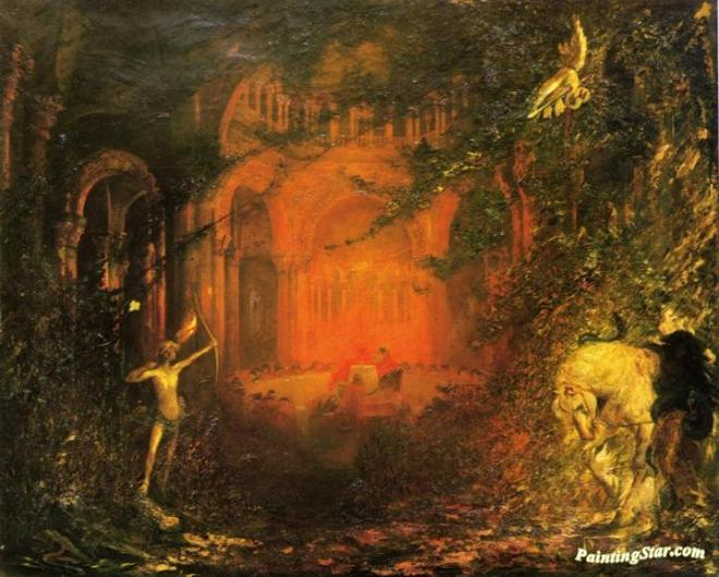 Pinckney Marcius-Simmons (1867 - 1909) Parsifal & the Kinghts of the Holy Grail