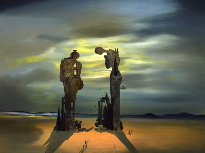 Salvador Dali (1904 - 1989) - Soft Monster in an Angelic Land (1976)