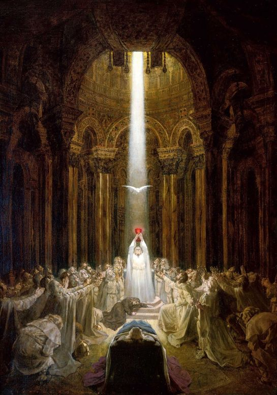 Seymour MillaiS Stone (1877 - 1957) Parsifal & the Holy Grail (1904)