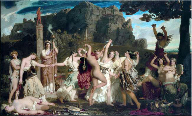 Charles Gleyre (1806 - 1874) Danse des Bacchantes (1849)