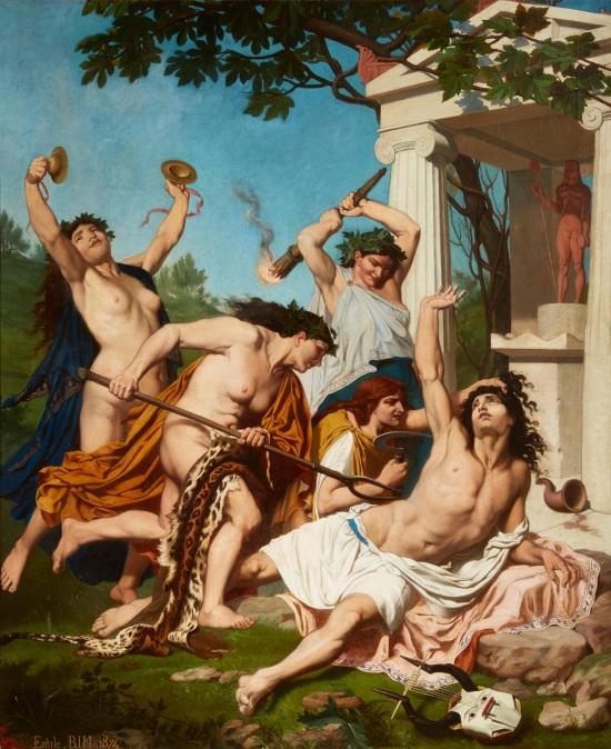 Emile Bin (1825 -1897) Death of Orpheus (1874)
