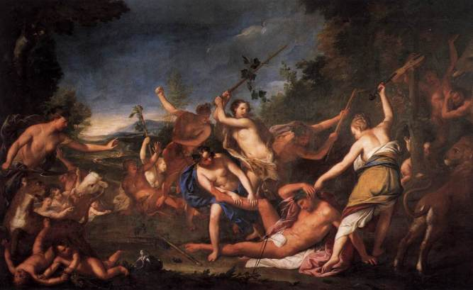 Gregorio Lazzarini (1657 - 1730) Orpheus & the Bacchantes (1710)
