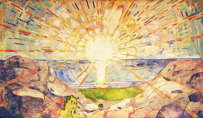 Edvard Munch (1863 - 1944) - The Sun (1916)