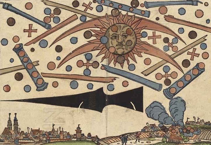 Himmelserscheinung uber Nurnberg vom 14 April 1561