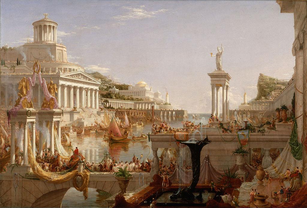Thomas Cole (1801 - 1848) - Course of Empire, Consummation (1836)