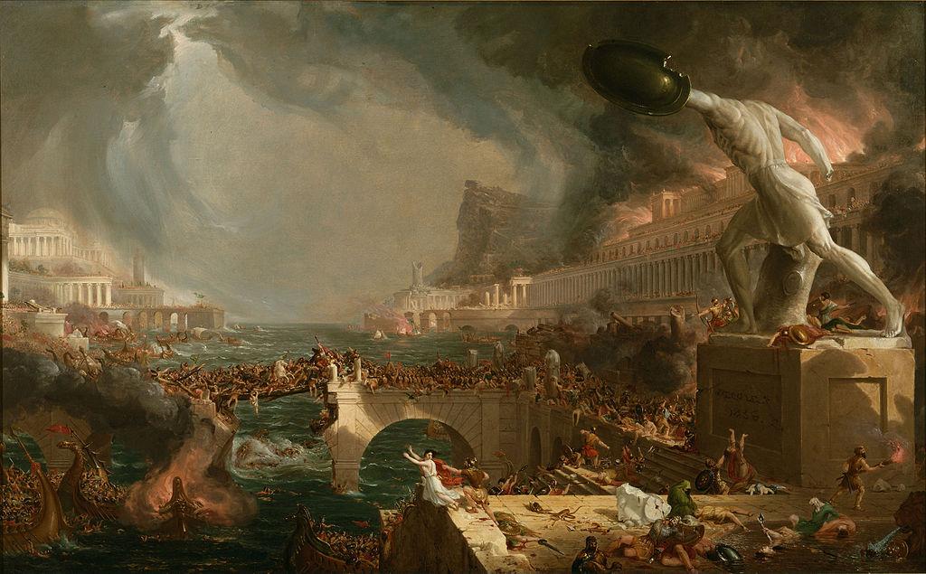 Thomas Cole (1801 - 1848) - Course of Empire, Destruction (1836)