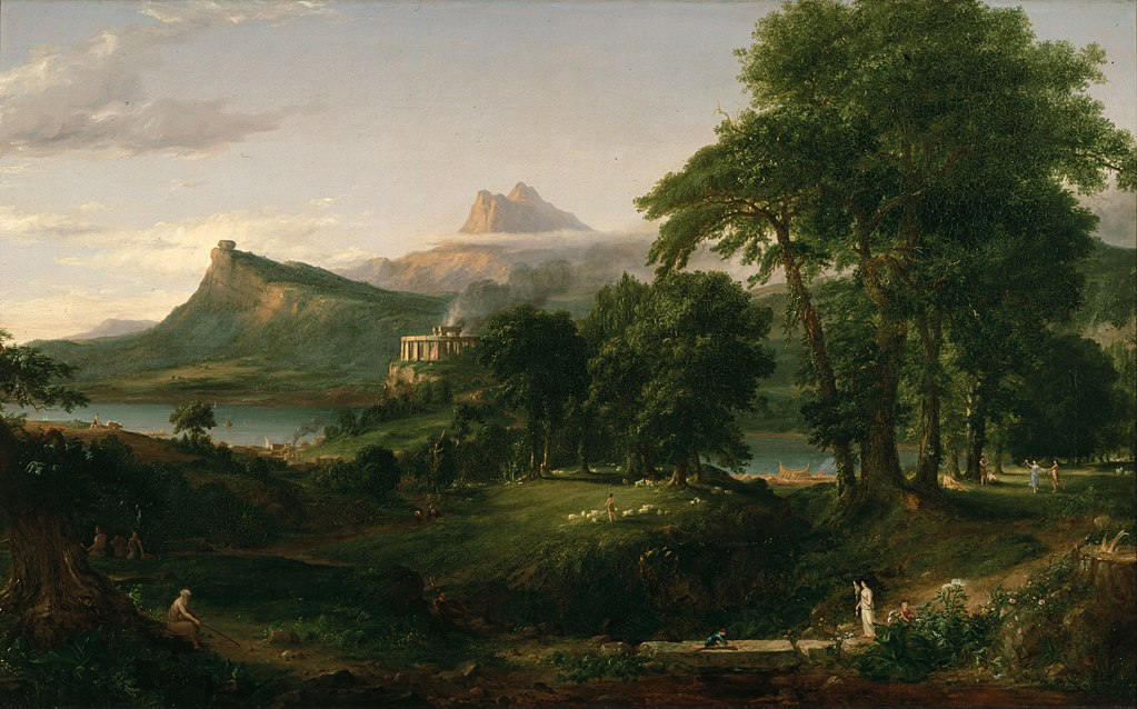 Thomas Cole (1801 - 1848) - The Course of Empire, The Pastoral State