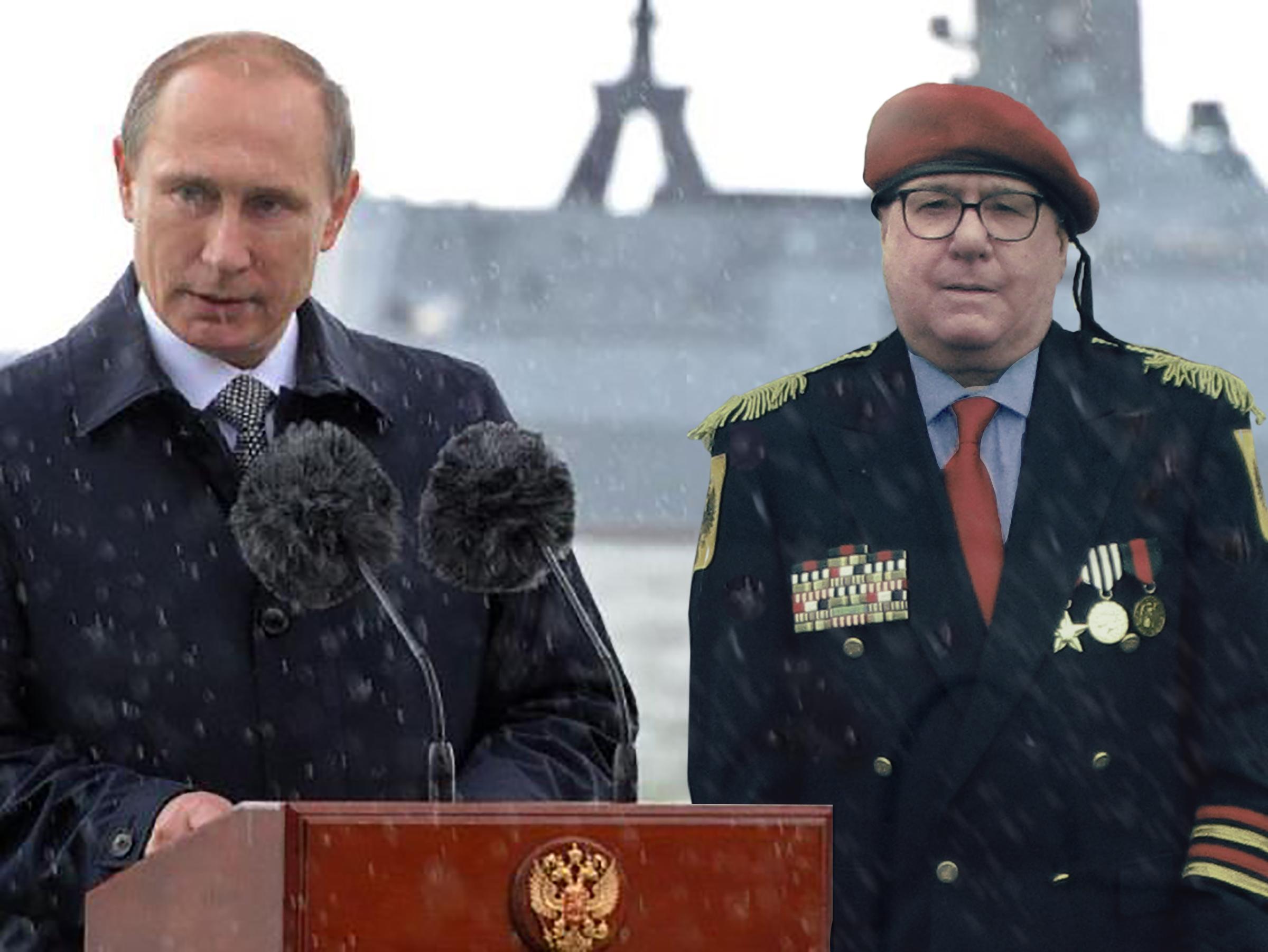 XYZ Putin with Feliksov to his Left (Snow)