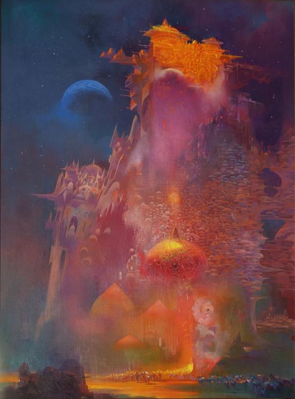 Paul Lehr (1930 - 1998) - Parapet in Golden Light (1975)