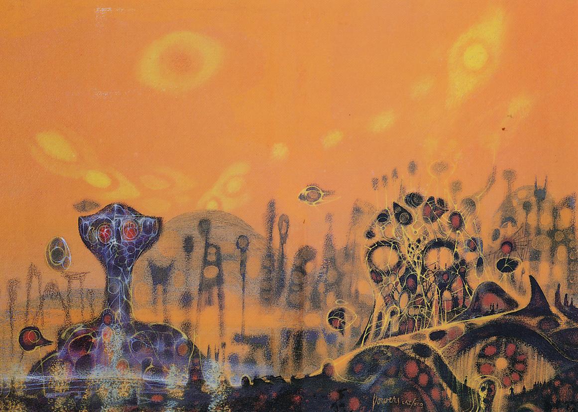 Bird 17 Powers, Richard M. (1921 - 1996) - Abstract in Yellow (1960s)