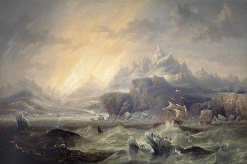 RVW 11 James Wilson Carmichael HMS_Erebus_and_Terror_in_the_Antarctic_by_John_Wilson_Carmichael
