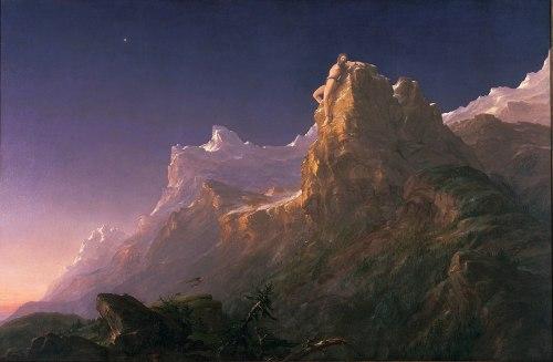 Sacer 02 Thomas Cole (1801 - 1848) - Prometheus Bound (1847)
