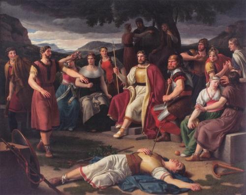 Sacer 07 Christoffer Wilhelm Eckersberg (1783 - 1853) Death of Baldr (1817)
